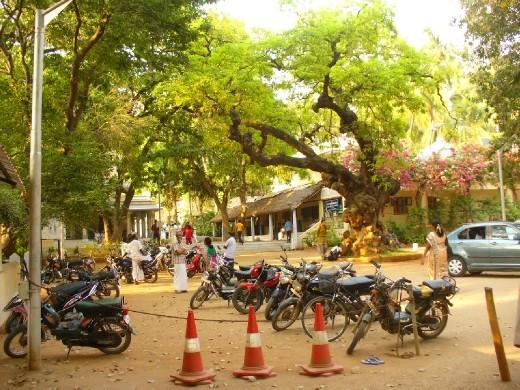 photo from hotel room, Tiruvanamlai, Southern India, ashram town