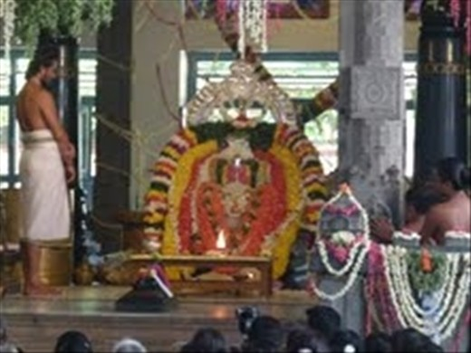 Maha Samadi - days of ceremony performed every year on the date of Ramana Maharshi's death/ ascendency ...... the ashram fills with flowers, chants and incense