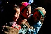 Young children enjoy a moment playing together in Tatopani, Nepal: by ayconry, Views[401]