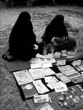 Two women in abaya waited patiently for their customers : by azimah-1910, Views[215]