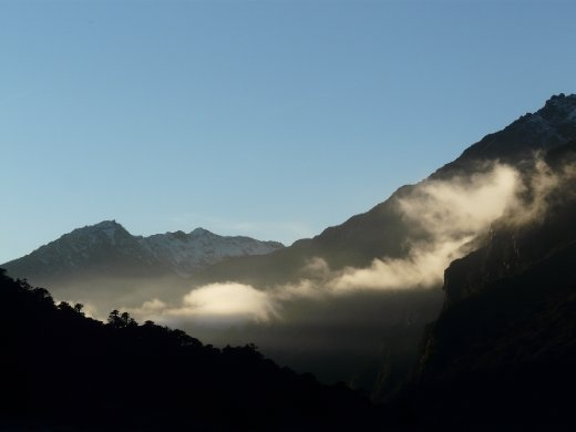 In Yanglekharka am naechsten Morgen.