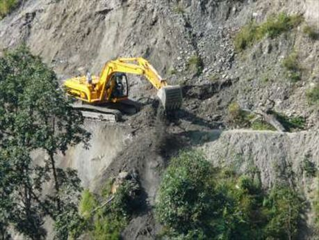 Nepali road construction.