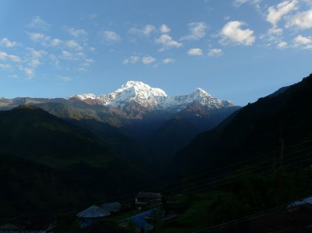 First View of the Annapurna Massiv the next Morning