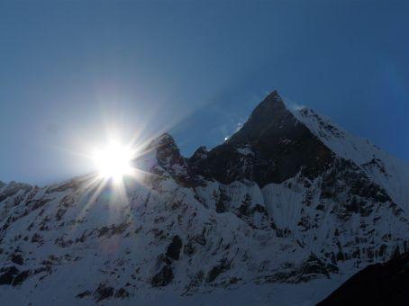 Sunrise at Machapuchare