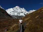 Tourist in front of Annapurna South.: by baba, Views[293]