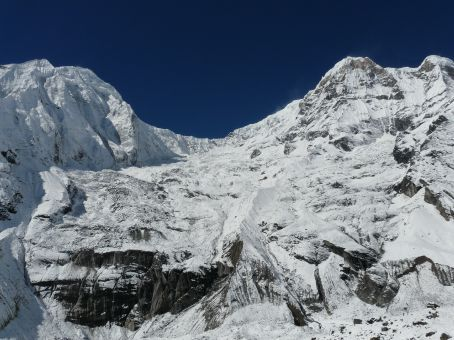 View back to Hiunchuli and Annapurna South.