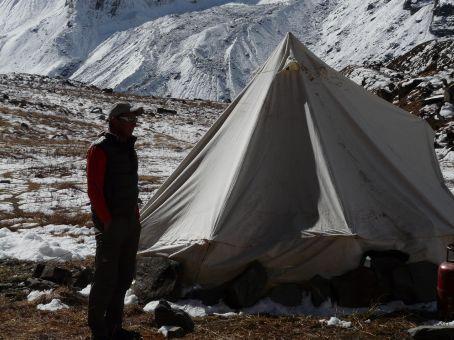 Kitchen tent.