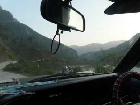 Nice taxi ride from Beni back to Pokhara.