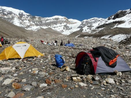 Advanced Base Camp on 4900m.