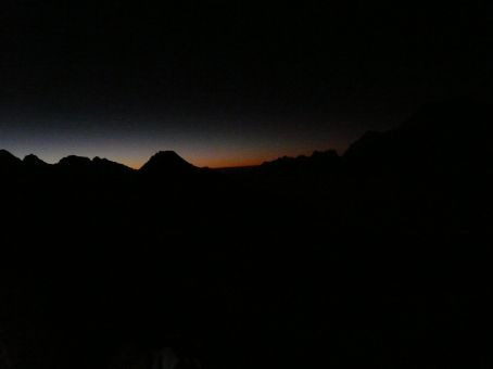 Sunrise at 5:30am.