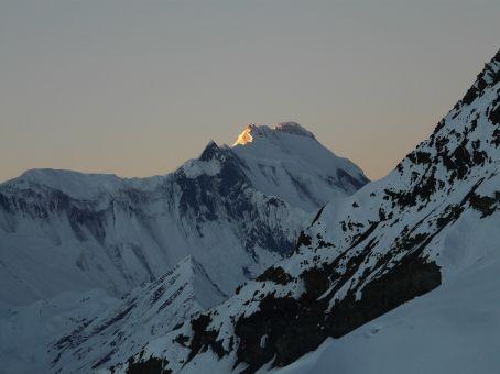 Sunrise on Annapurna I.