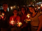 Loy Krathong festival at the river side. Jeff, Jamie, me and Kat.: by baba, Views[296]