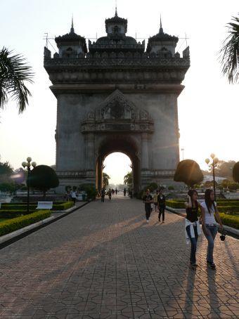 Patuxai - Vientiane's Arc de Triomphe.