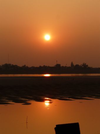Sunset at the Mekong.