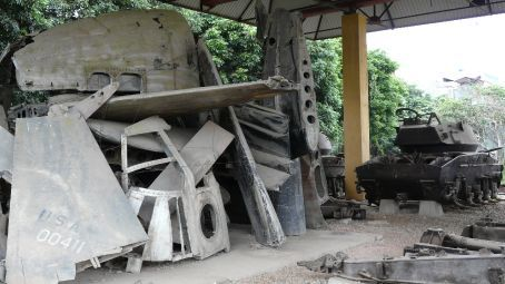 War relicts in Dien Bien Phu, the former battlefield of the Viet Mingh - French war 1954.