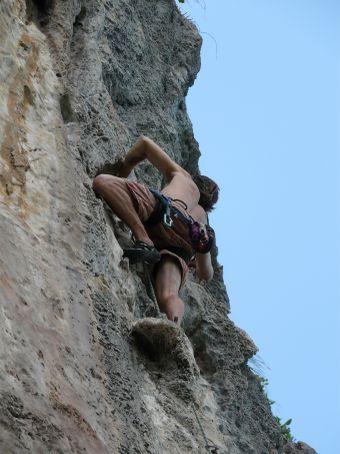 Climbing partner Willis.