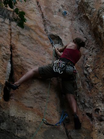 My attempt to lead a 6a+.