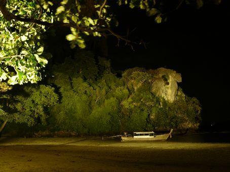 Thaiwand wall at night.