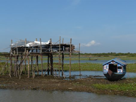 On the boat from Battambang to Siem Reap.