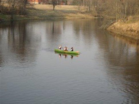 Kayaking in Estonia.