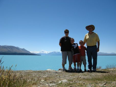 Lake Tekapo with Aoraki/Mount Cook in the background