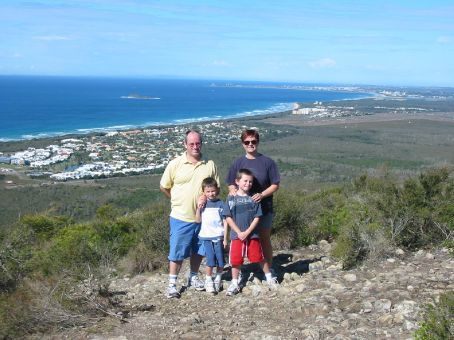 On top of Mount Coolum on the Sunshine Coast in Queensland in 2006
