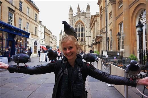Feeding the Birds in Bath, England