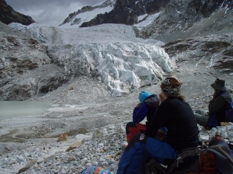 The glacier that we practiced our ice climbing on