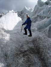 Ange looking pretty on top of a ridge of the glacier...: by bagen, Views[295]