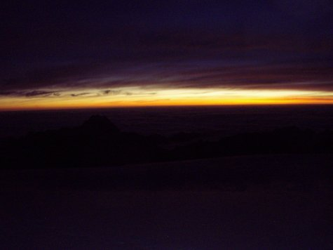 Sun rise at about 5700 meters