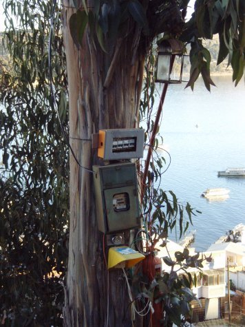 It`s ok... theres a fire extinguisher right next to the power box attached to the gum tree.  Oc health and safety Bolivian style!