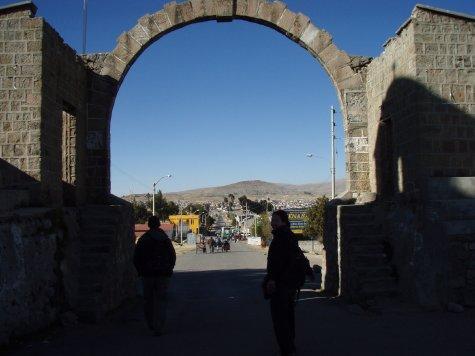 Gate into Peru