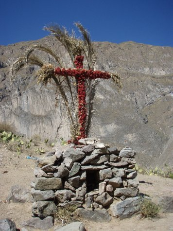 Pretty sure that cross must be for heart attack victims. All gringos for sure!