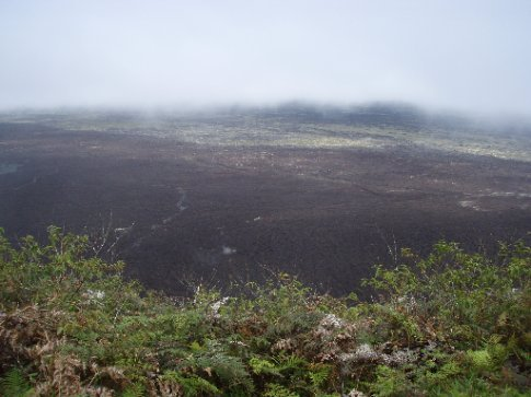 Crater of Volcan Sierra Negra.  Worlds second largest.