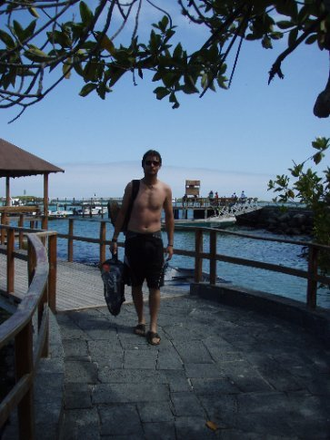 Back on land after another hard day snorkelling!   Is it beer o`clock yet?