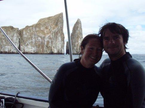 Couple of very happy divers
