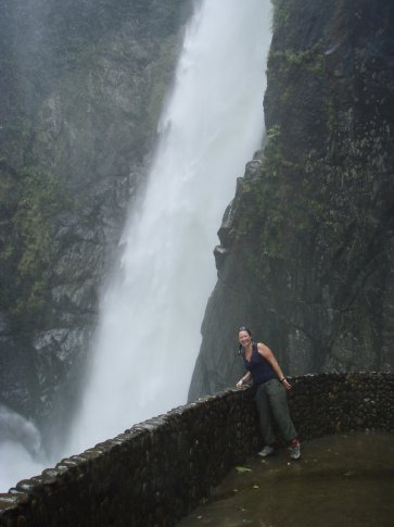 At one of the waterfalls you could right close to the bottom,,,, and get VERY wet!
