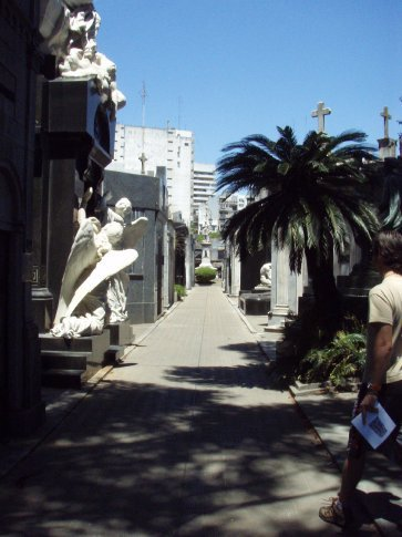 Ben in the Dead Centre of Buenos Aires.  ie - Recoleta Cementario