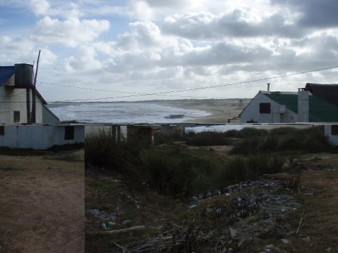 Wind torn coast line of Puerto del Diablo