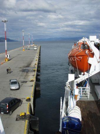 Departure. The Polaris pulls away from Ushuaia.  Antarctica ahoy!