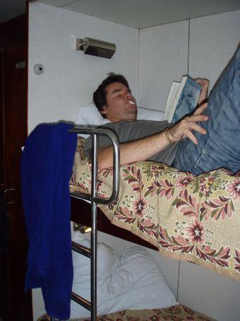 Relaxing in the huge beds