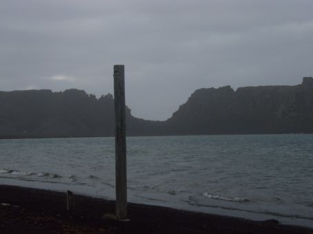 Deception Island.  We`re standing in the caldera of the volcano.  This is