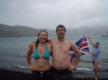 Post-swim!  We look comfortable aye?