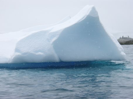 Iceberg with a cool blue underbelly