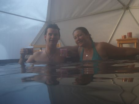And the hot tub and champers to finish off. To say that our legs needed it would be a bit of an understatement