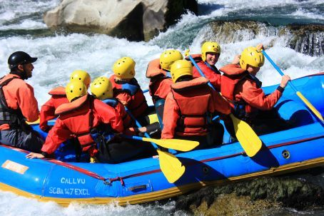 So how do you get a white water raft off a big rock?  All pile down the back of course!