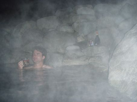 Hot-springs.  BYO champers.