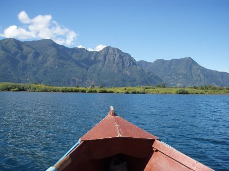 We never really did get much closer to that land.  Rowing is a tough gig.