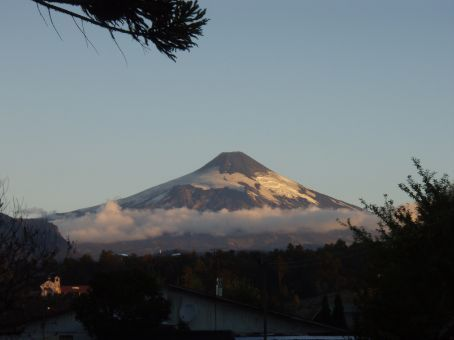 Volcan Villarica - Catching some sunset rays!  Hard to stop taking photos.