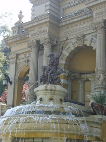 Also another fountain but this one of Neptune. This was located in a wonderful little park in the heart of Santiago. On a hill with a myriad of passages all around